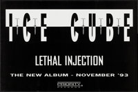 "Lethal Injection & Others Lot (Priority Records, 1993). Album Posters (3) (24"" X 36"" & 28""..."