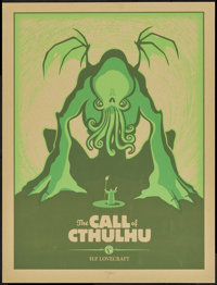 """The Call of Cthulhu (Spike Press, 2011). Autographed Limited Edition Screen Print Poster (19"""" X 25""""). Horror..."""