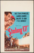 "Movie Posters:War, Stalag 17 & Other Lot (Paramount, 1953). Window Card (14"" X22"") & Japanese B2 (20.25"" X 28.5""). War.. ... (Total: 2 Items)"