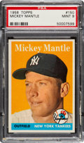 Baseball Cards:Singles (1950-1959), 1958 Topps Mickey Mantle #150 PSA Mint 9 - None Higher!...