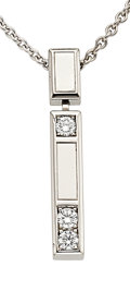 Estate Jewelry:Necklaces, Diamond, White Gold Pendant-Necklace, Harry Winston. ...