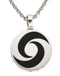 Estate Jewelry:Necklaces, Black Onyx, White Gold, Stainless Steel Pendant-Necklace, Bvlgari....