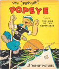 """Big Little Book:Cartoon Character, The """"Pop-Up"""" Popeye with The Hag of the Seven Seas Book (Blue Ribbon Press, 1935) Condition: VG...."""
