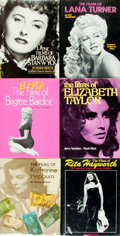Books:Biography & Memoir, [Film Actresses]. Group of Six Books. Citadel Press, [various dates].... (Total: 6 Items)