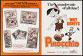 Movie Posters:Animation, Pinocchio & Others Lot (Buena Vista, R-1971). Uncut Pressbooks(63), Pressbooks (2) & Ad Supplements (6) (Multiple Pages,11... (Total: 71 Items)