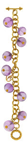 Estate Jewelry:Bracelets, Amethyst, Gold Bracelet, Patricia Makena. ...