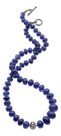 Estate Jewelry:Necklaces, Tanzanite, Diamond, Gold, Silver Necklace, Yossi Harari. ...