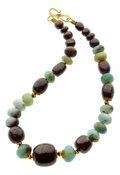 Estate Jewelry:Necklaces, Opal, Boulder Opal, Gold Necklace, Patricia Makena. ...