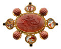Estate Jewelry:Brooches - Pins, Hardstone, Gold Brooch, Elizabeth Gage. ...