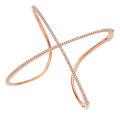 Estate Jewelry:Bracelets, Diamond, Pink Gold Bracelet. ...