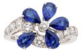 Estate Jewelry:Rings, Sapphire, Diamond, White Gold Ring, Van Cleef & Arpels. ...