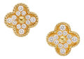 Estate Jewelry:Earrings, Diamond, Gold Earrings, Van Cleef & Arpels. ...