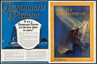 "The Ten Commandments (Paramount, 1923). Program (18 Pages, 9"" X 11.75""). Drama"