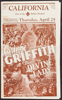 "The Divine Lady & Others Lot (First National, 1929). Heralds (6) (4 Pages, 3.75"" X 6.25"" - 10"" X..."