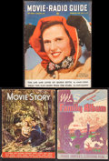 "Movie Posters:Miscellaneous, Movie Story Magazine & Others Lot (Fawcett Publications, 1941).Magazine (3) (Multiple Pages, 8"" X 11"", 8.5"" X 11"", & 10.5"" ...(Total: 3 Items)"