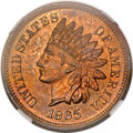 Proof Indian Cents, 1865 1C PR63 Red and Brown NGC. CAC....