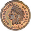 Proof Indian Cents, 1868 1C PR64 Red and Brown NGC....
