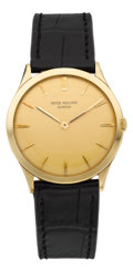 Timepieces:Wristwatch, Patek Philippe Ref. 2589 Fine Yellow Gold Wristwatch, circa 1959....