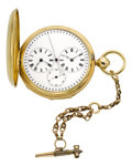 Timepieces:Pocket (pre 1900) , M.J. Tobias Liverpool 18k Gold Captain's Watch With IndependentSeconds, circa 1860's. ...