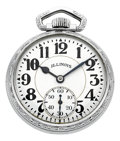 Timepieces:Pocket (post 1900), Illinois 21 Jewel 60 Hour Bunn Special Model 161A Circa 1948. ...