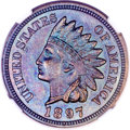 Proof Indian Cents, 1897 1C PR65 Brown NGC....