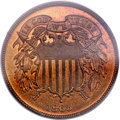 Proof Two Cent Pieces, 1865 2C PR66 Red and Brown PCGS....