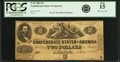 Confederate Notes:1862 Issues, Confederate States of America - T42 $2 1862 PF-3, Cr. 336. PCGSFine 15.. ...