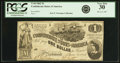 Confederate Notes:1862 Issues, Confederate States of America - T44 $1 1862 PF-1, Cr. 339. PCGSVery Fine 30.. ...