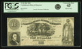 Confederate Notes:1861 Issues, Confederate States of America - T30 $10 1861 PF-6, Cr. 242. PCGS Extremely Fine 45.. ...