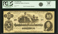 Confederate Notes:1862 Issues, Confederate States of America - T46 $10 1862 PF-2, Cr. 343. PCGSVery Fine 35.. ...