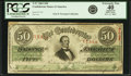 Confederate Notes:1863 Issues, Confederate States of America - T57 $50 1863 PF-1, Cr. 406/2. PCGSExtremely Fine 40 Apparent.. ...