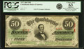 Confederate Notes:1863 Issues, Confederate States of America - T57 $50 1863 PF-16, Cr. 413/4 .PCGS Choice New 63 Apparent.. ...
