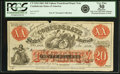 """Confederate Notes:1861 Issues, Confederate States of America - CTXX-4 $20 1861 """"Upham Transition Note"""" Tremmel CTXX-4. PCGS Very Fine 30 Apparent.. ..."""
