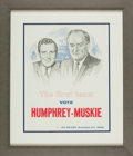 Books:Prints & Leaves, [Political Posters]. Humphey-Muskie Jugate Campaign Poster.Washington, D.C.: [1968]....