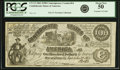 Confederate Notes:1861 Issues, Confederate States of America - CT13 $100 1861 CT13/56B. PCGS About New 50.. ...