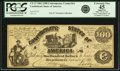 Confederate Notes:1861 Issues, Confederate States of America - CT13 $100 1861 CT13/56-3. PCGS Extremely Fine 45 Apparent.. ...