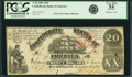 Confederate Notes:1861 Issues, Confederate States of America - T18 $20 1861 PF-20, Cr. 129. PCGS Very Fine 35.. ...