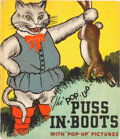 """Big Little Book:Humor, The """"Pop-Up"""" Puss in Boots Book (Blue Ribbon Books, 1934)Condition: VG+...."""