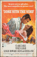 "Movie Posters:Academy Award Winners, Gone with the Wind (MGM, R-1968/R-1967). One Sheet (27"" X 41"") andProgram (9.25"" X 12.5""). Academy Award Winners.. ... (Total: 2Items)"