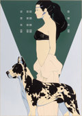 Mainstream Illustration, Patrick Nagel (American, 1945-1984). Great Dame. Acrylic onboard. 33.75 x 24 in. (image). Not signed. ...