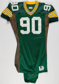 Football Collectibles:Uniforms, 1995 Darius Holland Game Worn Green Bay Packers Jersey....