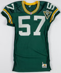 Football Collectibles:Uniforms, 1993 Rich Moran Game Worn Green Bay Packers Jersey....