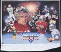 Football Collectibles:Others, Super Bowl MVPs Multi Signed Lithograph....