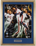 Baseball Collectibles:Photos, 1986 New York Mets Team Signed Oversized Photograph....