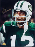 Football Collectibles:Photos, Joe Namath Signed Oversized Photographs Lot of 2....