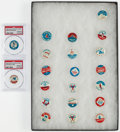 Baseball Cards:Sets, 1964 Guy's Potato Chips Baseball Pins Complete Set (20), plus one extra. ...