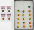 Baseball Cards:Sets, 1965 Guy's Potato Chips Baseball Pins Complete Set (20). ...