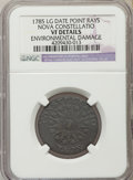 1785 COPPER Nova Constellatio Copper, Pointed Rays, Large Date -- Environmental Damage -- NGC Details. VF. NGC Census: (...