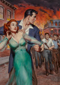 Paintings, American Artist (20th Century). Naked Fury, paperback cover, 1952. Oil on board. 16.75 x 11.75 in. (sight). Not signed. ... (Total: 2 Items)