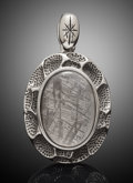"Lapidary Art:Carvings, Muonionalusta Meteorite ""Crater"" Pendant . Iron fine octahedrite- IVA. Northern Sweden - (67° 48'N, 23° 6'E). ..."